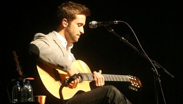 Pablo Alborán durante un concierto.