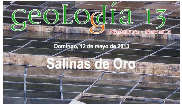 Cartel anunciador de la cita del 3º Geolodía que se celebra en la Comunidad foral