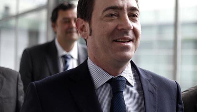 Roberto Jiménez, la semana pasada en uno de los pasillos del Parlamento foral