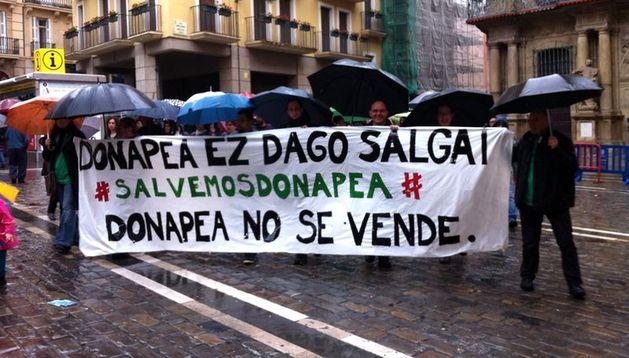 Manifestación convocada por los sindicatos contra la LOMCE.
