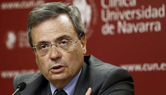El director de la ONT, Rafael Matesanz, en Pamplona.