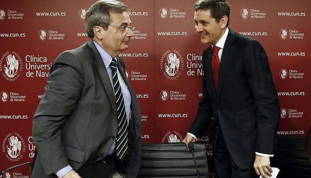 El director de la ONT, Rafael Matesanz, junto al director general de la CUN, José Andrés Gómez.
