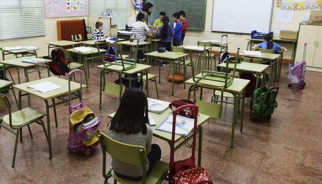 Aspecto del interior de un aula del Colegio Antonio García Quintana de Valladolid.