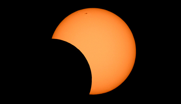 Imagen del eclipse desde Australia.