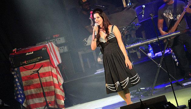 Lana del Rey, en su actuación en Madrid.