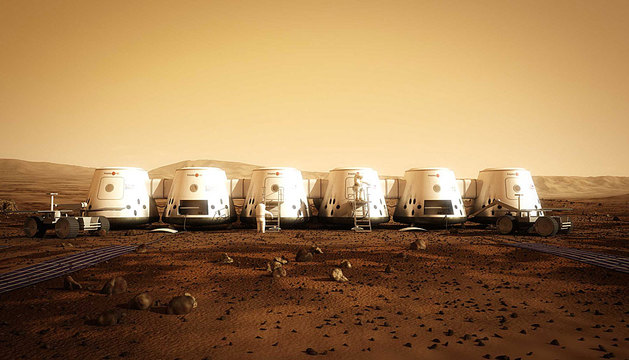 Simulación de una colonia en Marte.