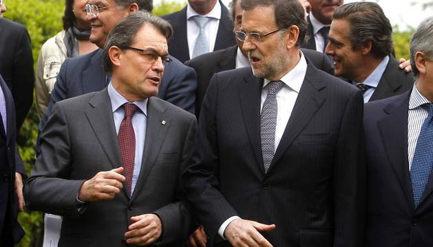 Rajoy y Más charlaron este  viernes en Barcelona