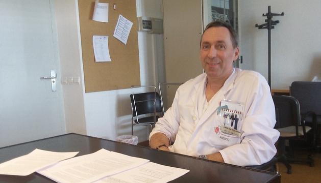 El médico Miguel Ángel Pinillos Echeverría, del Servicio de Urgencias del Hospital de Navarra