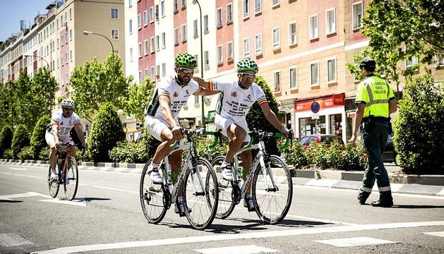 Finaliza el homenaje ciclista a las víctimas de ETA