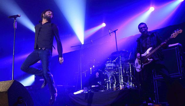 M Clan, en una actuación en Pamplona.