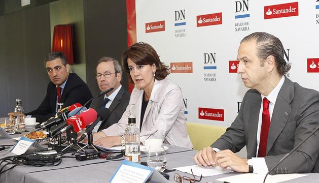 Yolanda Barcina, en el desayuno organizado por Diario de Navarra