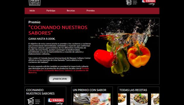 Página inicial de la web.