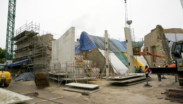 La estructura prefabricada de hormigón que permitirá reconstruir el baluarte