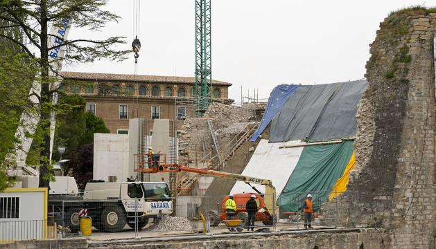 Estructura prefabricada de hormigón que permitirá reconstruir el baluarte.