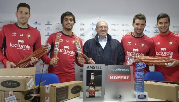 Damiá, Arribas, Goikoetxea, Marc Bertrán y Andrés Fernández.