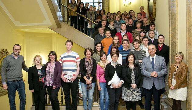 Alumnos de la Walter Euchen Schule de Karlsruhe, de visita en Pamplona.