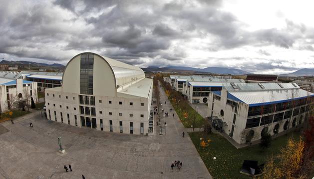 Vista general del campus de Arrosadía de la Universidad Pública de Navarra