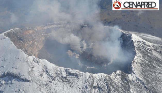 El volcán Popocatépetl después de la erupción