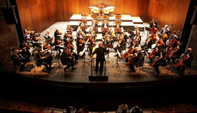 Actuación de la OSN en el Teatro Gaztambide de Tudela.