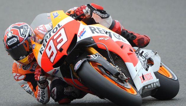 Marc Márquez durante la sesión de clasificación.