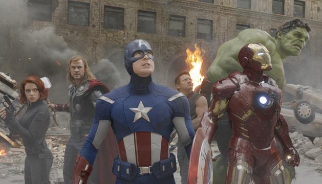 Protagonistas de 'Los Vengadores'