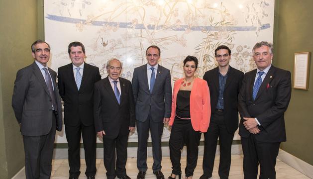 José Miguel del Amo, Miguel Horta, Carlos Almagro, Javier Esparza, Irina Gómez, Juan Antonio Blanco y Joaquín Olona