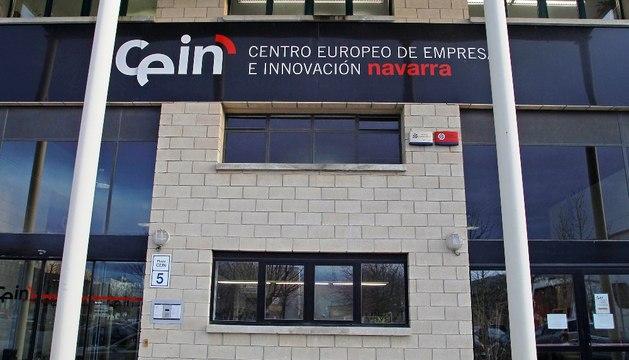 Exterior de la empresa pública CEIN, Centro europeo de empresas e innovación de Navarra, en Noáin.