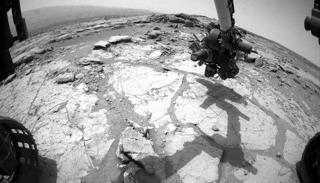 El robot Curiosity, en la superficie marciana.