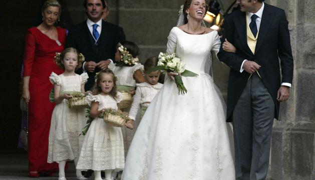 Ana Aznar y Alejandro Agag, recién casados