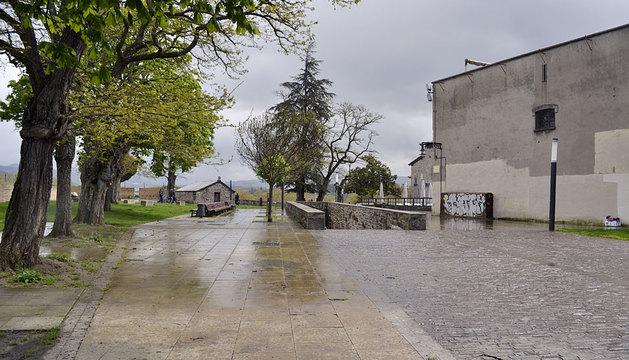 Vista del Caballo Blanco en Pamplona.