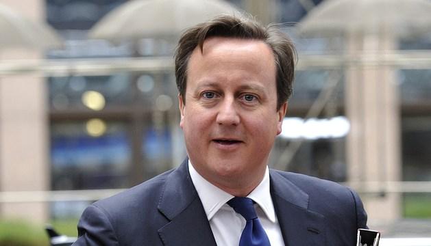 El primer ministro británico, a su llegada a la sede del Consejo Europeo en Bruselas.