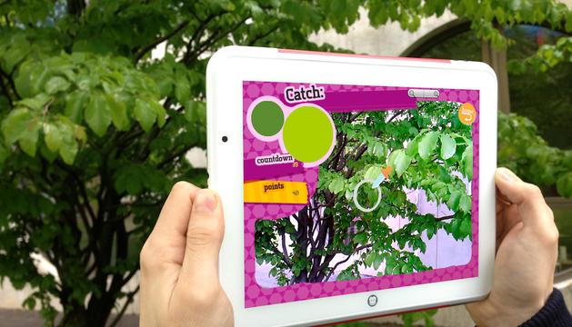 Tablet con la aplicación.