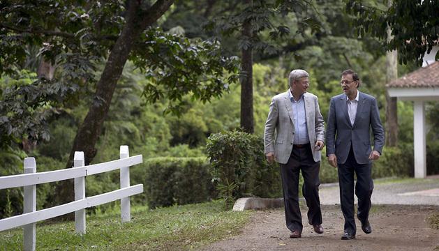 Los presidentes de España y Canadá asistieron a la cumbre como observadores.