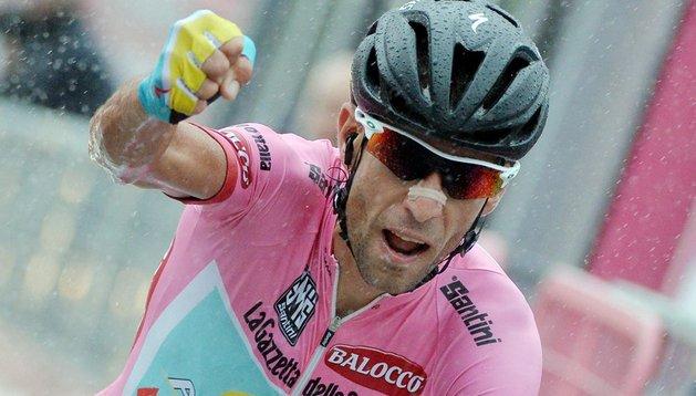 Vincenzo Nibali, virtual ganador del Giro de Italia a falta de sólo una etapa para la conclusión de la carrera