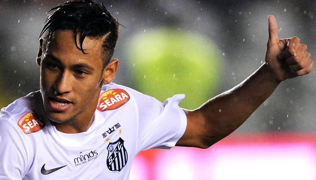 Neymar, jugador del Santos FC brasileño, en un partido del pasado 23 de mayo.