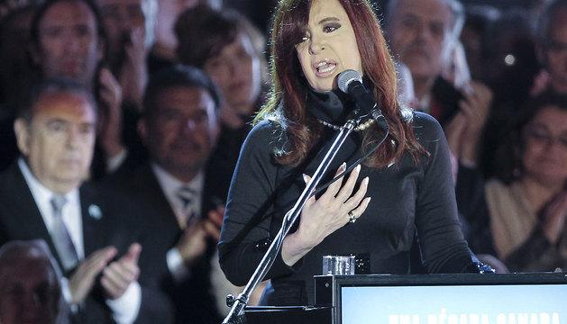 Cristina Fernández participa en la celebración de la Revolución de Mayo.