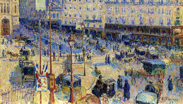Una de las obras de Pissarro.