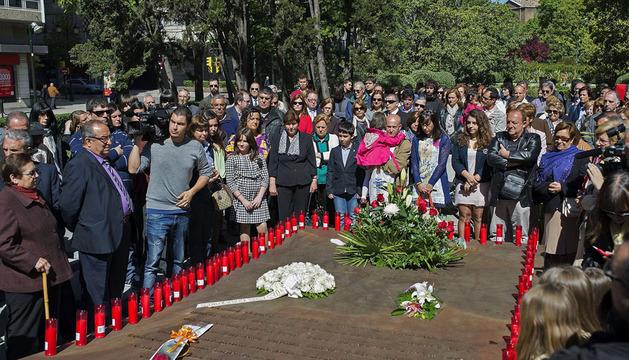 Familiares de los 62 militares fallecidos en el accidente del Yak-42 en Turquía, durante el acto celebrado  en Zaragoza