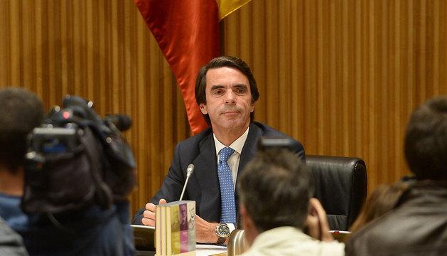 José María Aznar, en la presentación de su libro.