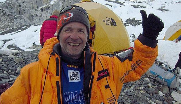 Fotografía del blog del alpinista leridano Juanjo Garra, que ha fallecido en la cima del Dhaulagiri.