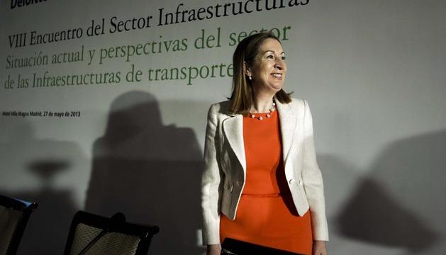 La ministra de Fomento,durante la inauguración del VII Encuentro del sector de las infraestructuras