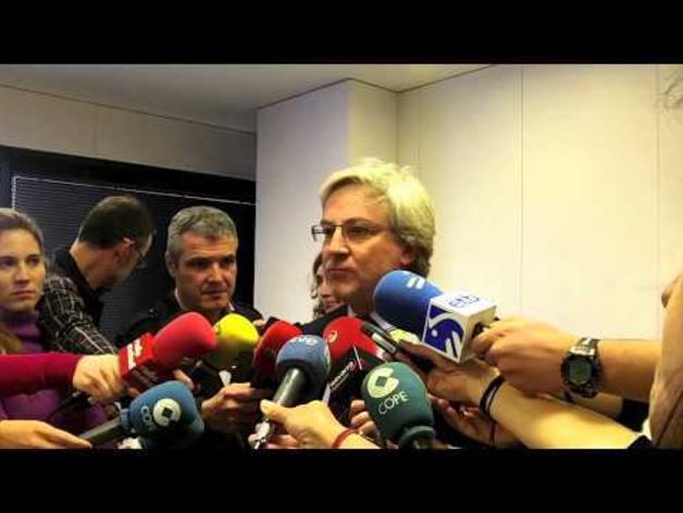 Enrique Goñi, tras declarar ante la juez por las dietas de la CAN