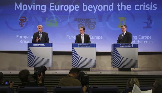 Rueda de prensa ofrecida este miércoles en la sede de la Unión Europea en Bruselas