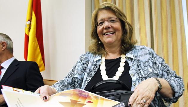 La presidenta de la Comisión Nacional del Mercado de Valores (CNMV), Elvira Rodríguez, comparece en la comisión de Economía y Competitividad del Congreso, para dar cuenta del informe anual