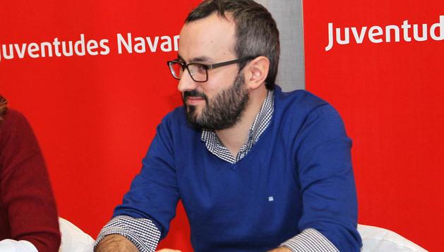 Fermín Alonso, presidente de Juventudes Navarras, en una imagen anterior