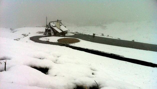 Belagua, este miércoles, cubierto de nieve.