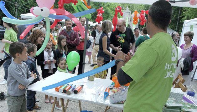 La fiesta de Intermon Oxfam en la Taconera en 2012.