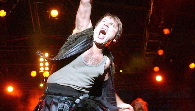 Iron Maiden durante un concierto en Murcia.