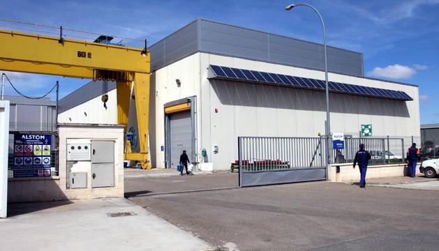 Imagen de las instalaciones de la planta de Alstom situadas en el polígono industrial de la localidad ribera de Buñuel.