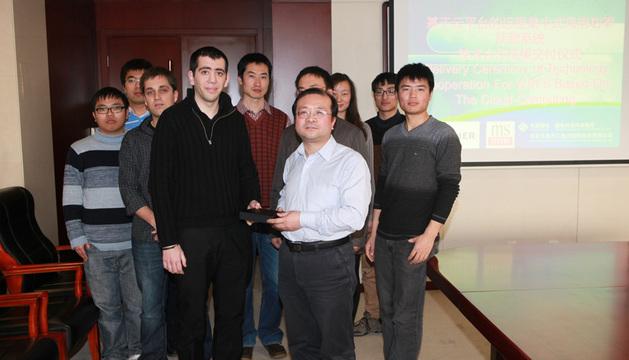 La delegación china y técnicos de CENER